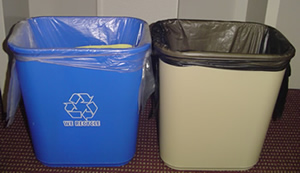Garbage Bins, Recycling and Non-recycling