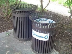 Recycling Containers, Recycling and Non-recycling